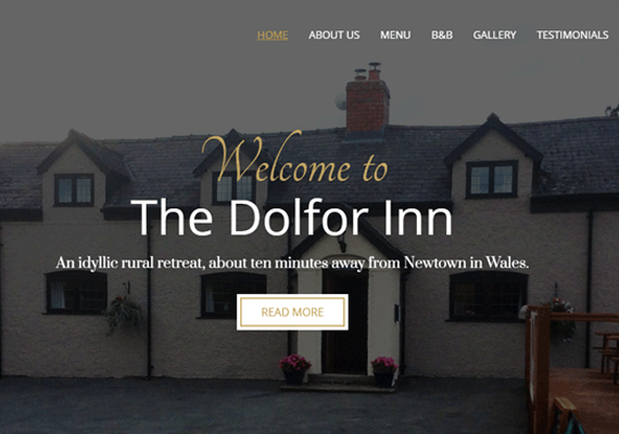 The Dolfor Inn commissioned a responsive website to give their family run B&B, an online presence.
