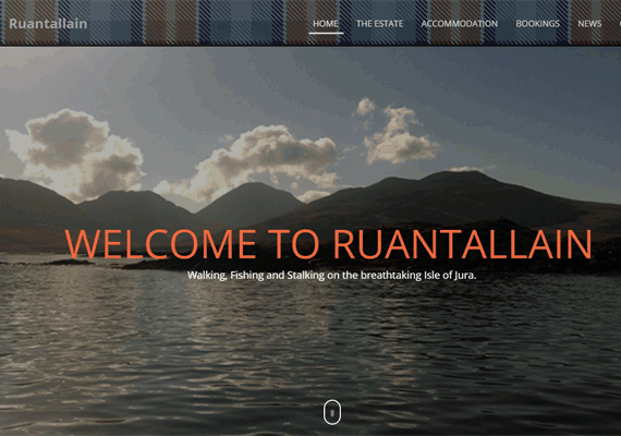 Ruantallain commissioned a responsive website to showcase their Stalking & Fishing Estate, on the Isle of Jura.